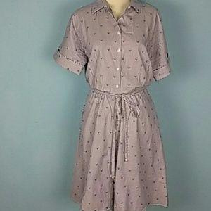 Brooks Brothers shirt dress preppy tennis pockets